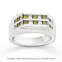 14k White Gold Princess 1/2 Carat Yellow Diamond Ring
