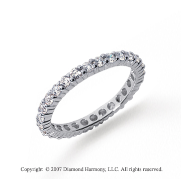 1 Carat Diamond Platinum Round Eternity Band