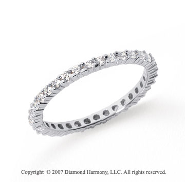 1/2 Carat Diamond Platinum Round Eternity Band