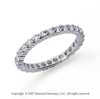 3/4 Carat Diamond Platinum Round Eternity Band