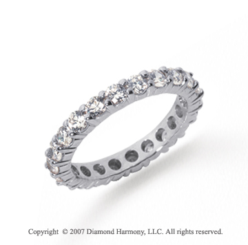 2 1/2 Carat Diamond Platinum Round Eternity Band