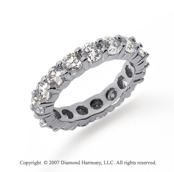 3 1/2 Carat Diamond Platinum Round Eternity Band