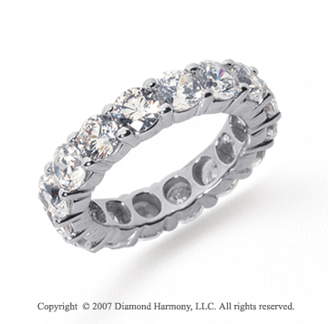 5 Carat Diamond Platinum Round Eternity Band