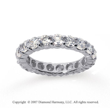 3 Carat Diamond Platinum Round Eternity Band