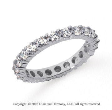 1 1/2 Carat Diamond Platinum Round Eternity Band