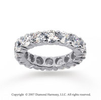 5 Carat Diamond 14k White Gold Round Eternity Band