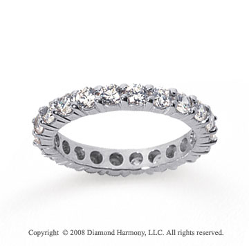 2 Carat Diamond 18k White Gold Round Eternity Band