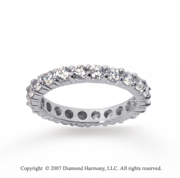 2 1/2 Carat Diamond 18k White Gold Round Eternity Band