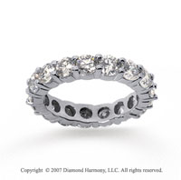 3 1/2 Carat Diamond 18k White Gold Round Eternity Band