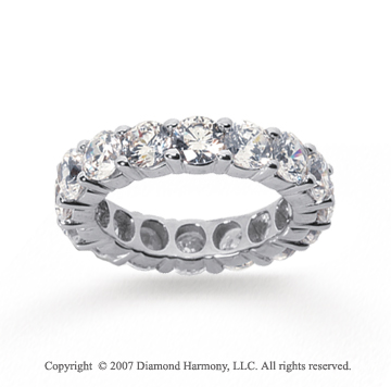5 Carat Diamond 18k White Gold Round Eternity Band