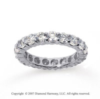 3 Carat Diamond 18k White Gold Round Eternity Band