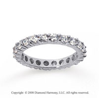 1 1/2 Carat Diamond 18k White Gold Round Eternity Band