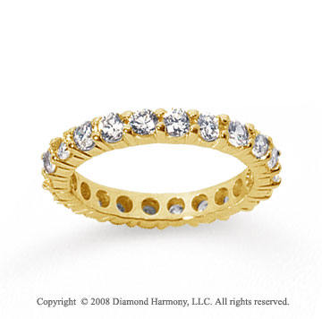 2 Carat Diamond 14k Yellow Gold Round Eternity Band