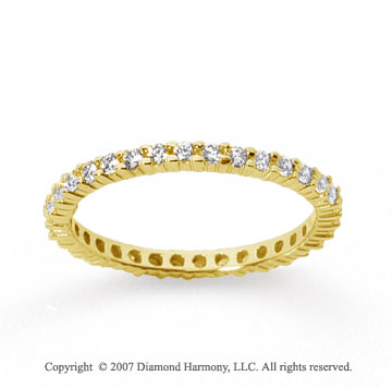 1/2 Carat Diamond 14k Yellow Gold Round Eternity Band
