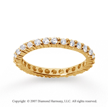 3/4 Carat Diamond 14k Yellow Gold Round Eternity Band