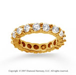 3 1/2 Carat Diamond 14k Yellow Gold Round Eternity Band