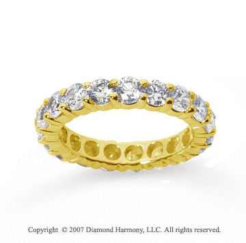 3 Carat Diamond 14k Yellow Gold Round Eternity Band