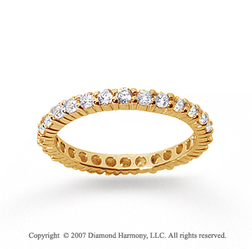 1 Carat Diamond 18k Yellow Gold Round Eternity Band