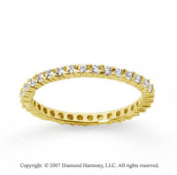 1/2 Carat Diamond 18k Yellow Gold Round Eternity Band