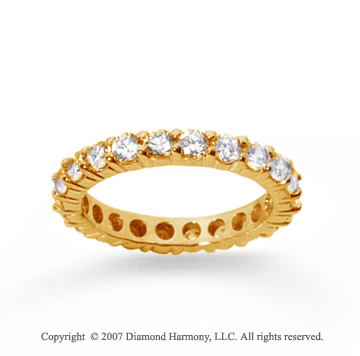 2 1/2 Carat Diamond 18k Yellow Gold Round Eternity Band