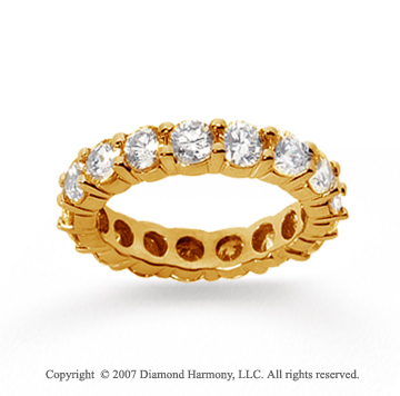 3 1/2 Carat Diamond 18k Yellow Gold Round Eternity Band