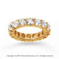 5 Carat Diamond 18k Yellow Gold Round Eternity Band