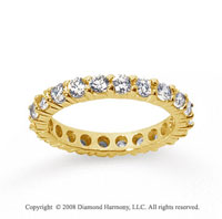 1 1/2 Carat Diamond 18k Yellow Gold Round Eternity Band