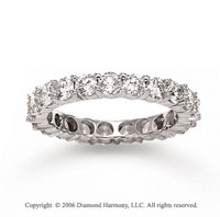 14k White Gold Round Prong 1 1/2 Carat Diamond Eternity Ring