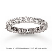 14k White Gold Round Prong 1 3/4 Carat Diamond Eternity Ring