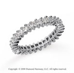 1 1/4 Carat Diamond Platinum Princess Eternity Band