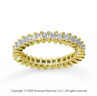 1 1/4 Carat Diamond 18k Yellow Gold Princess Eternity Band