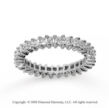 1 1/2 Carat Diamond 14k White Gold Princess Eternity Band