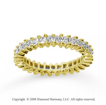1 1/2 Carat Diamond 18k Yellow Gold Princess Eternity Band