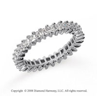 2 Carat Diamond Platinum Princess Eternity Band