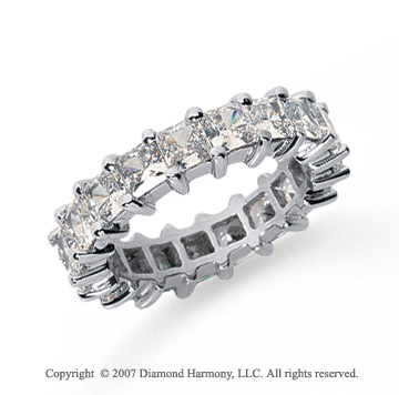 4 3/4 Carat Diamond Platinum Princess Eternity Band