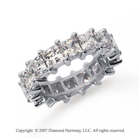 6 1/2 Carat Diamond Platinum Princess Eternity Band