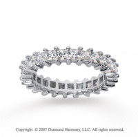 2 1/2 Carat Diamond 18k White Gold Princess Eternity Band