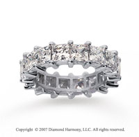 6 1/2 Carat Diamond 18k White Gold Princess Eternity Band