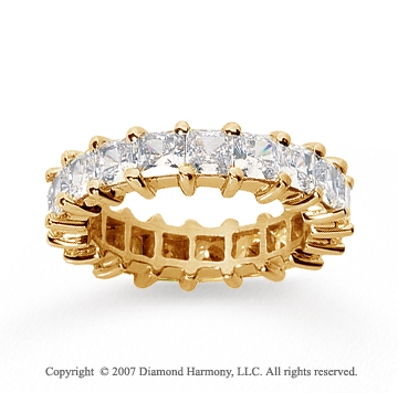 4 3/4 Carat Diamond 14k Yellow Gold Princess Eternity Band