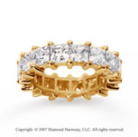 6 1/2 Carat Diamond 14k Yellow Gold Princess Eternity Band