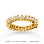 2 1/2 Carat Diamond 18k Yellow Gold Princess Eternity Band
