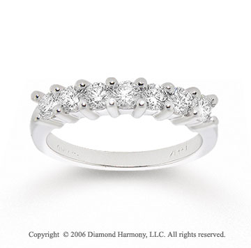 14k White Gold Seven Stone 0.40 Carat Diamond Anniversary Band