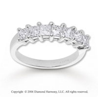 14k White Gold Princess 1.25 Carat Diamond Anniversary Band