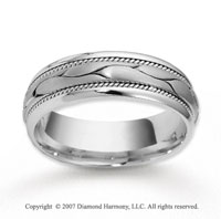 14k White Gold Abstra Carat Fashion Braided Wedding Band