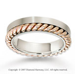 14k Two Tone Gold Special Elegant Rope Wedding Band