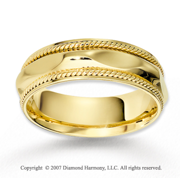 14k Yellow Gold Grand Elegance Braided Wedding Band