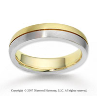 14k Two Tone Gold Great Harmony Finest Wedding Band