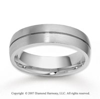 14k White Gold Smooth Elegance Stylish Wedding Band