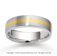 14k Two Tone Gold Perfe Carat Elegance Carved Wedding Band
