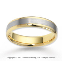 14k Two Tone Gold Fashion Fine Carved Wedding Band